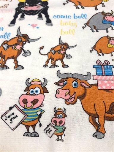 купить Кухонное полотенце Веселый бык Коричневый фото 2