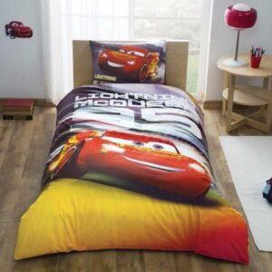 купить Подростковое постельное белье TAC Disney Cars Lightning Оранжевый фото