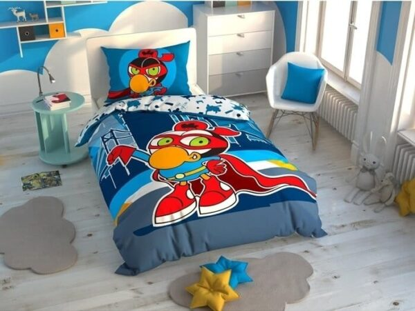 купить Подростковое постельное белье TAC Disney Sizinkiler Zeytin Голубой фото