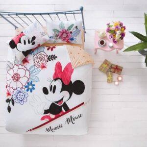 купить Подростковое постельное белье TAC ранфорс Disney Minnie Mouse Watercolor Розовый фото