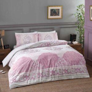 купить Постельное белье TAC ранфорс Aryan pembe V02 Розовый фото