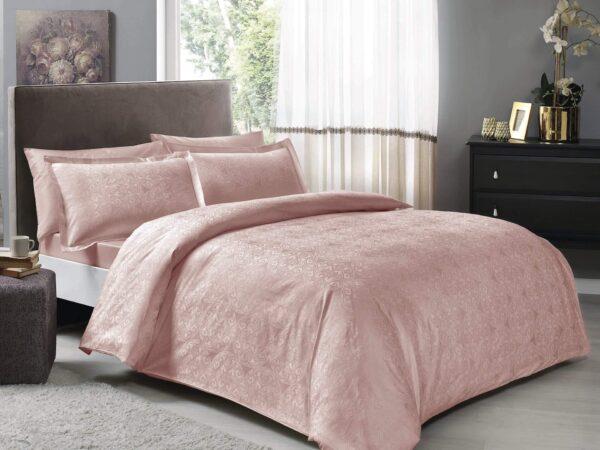 купить Постельное белье TAC жаккард Nodus pudra Розовый фото
