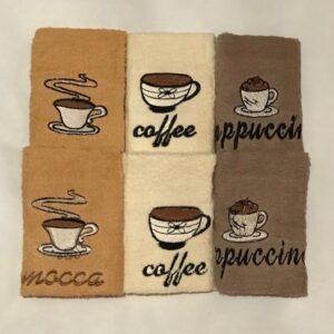 купить Набор кухонных полотенец Sikel Coffee PVC V3 (6 шт.)  фото