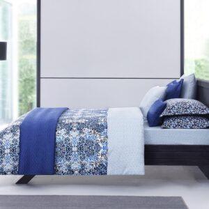 купить Постельное белье TAC сатин Metropol Dream V02 lacivert Синий фото