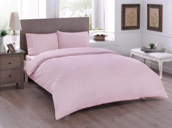купить Постельное белье TAC ранфорс Basic Pembe Розовый фото