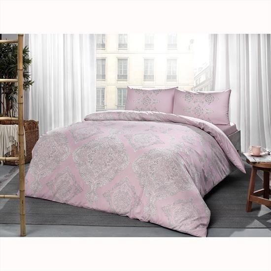 купить Постельное белье TAC ранфорс Mirabel V03 pembe Розовый фото