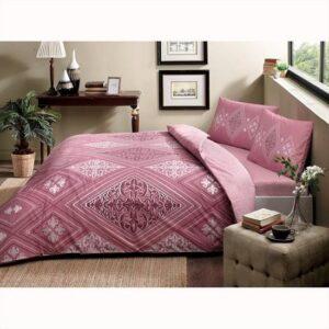 купить Постельное белье TAC ранфорс Silva V01 gul kurusu Розовый фото