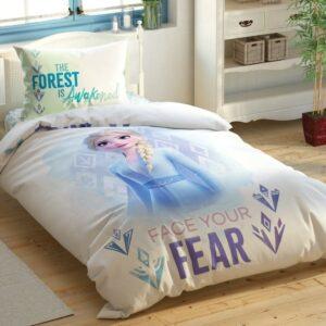 купить Подростковое постельное белье TAC Disney Frozen 2 Elsa and Anna Голубой фото