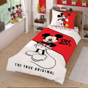 купить Подростковое постельное белье TAC Disney Mickey Cek Красный фото