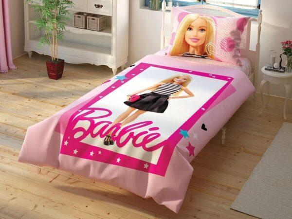 купить Подростковое постельное белье TAC Disney Barbie Cek Розовый фото