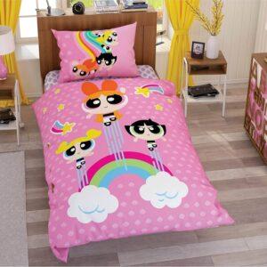 купить Подростковое постельное белье TAC Disney Power Puff Girls Stars Розовый фото