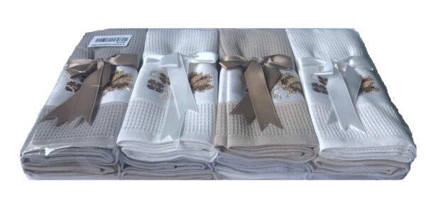 купить Набор кухонных полотенец TAC вафельный Asorti kahve (12 шт)  фото