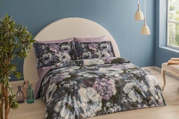 купить Постельное белье TAC Bamboo Saphira V01 lila Серый фото