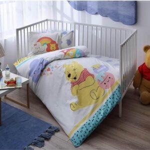 купить Постельное белье для новорожденных TAC Disney Winnie Hunny Baby Голубой фото