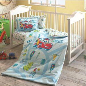 купить Постельное белье для новорожденных TAC Disney Cars Traffic Baby Голубой фото
