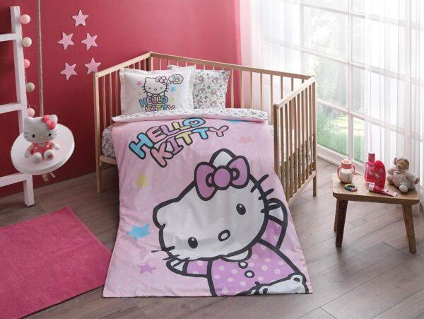 купить Постельное белье для новорожденных TAC Hello Kitty Baby Розовый фото