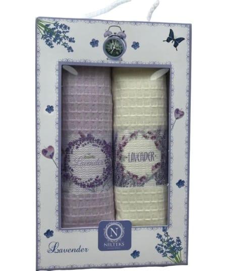 купить Набор кухонных полотенец Nilteks 3D Lavender (2 шт)  фото