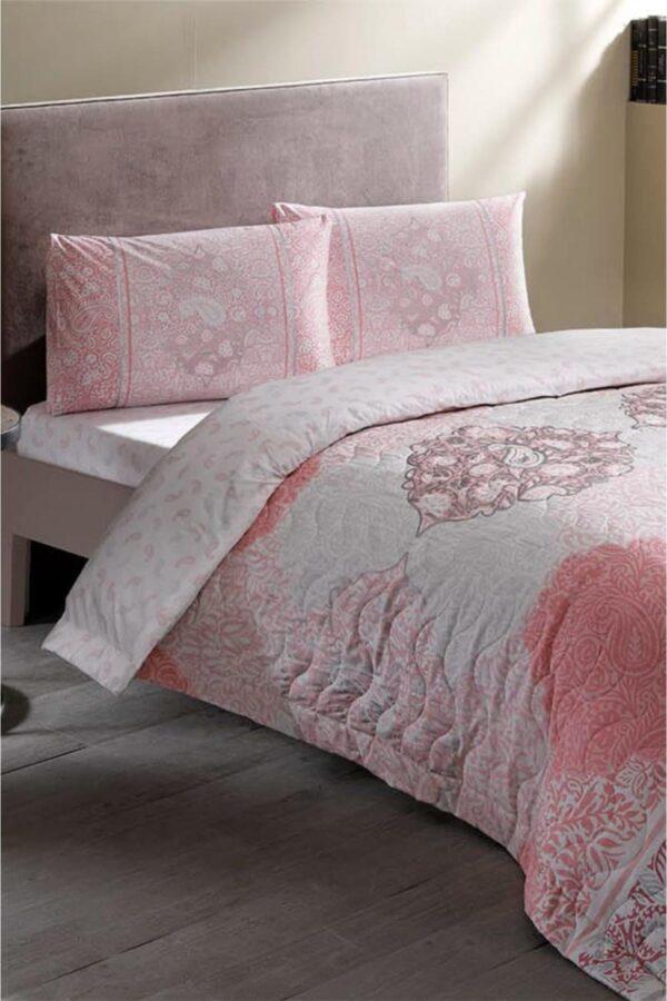 купить Постельное белье TAC Complete set Aryan V02 pembe Розовый фото