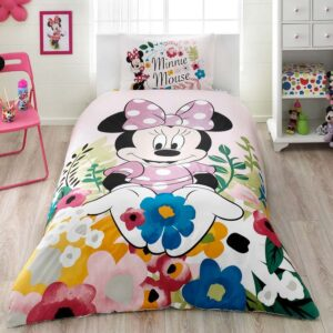 купить Подростковое постельное белье TAC Disney Minnie Glitter Розовый фото