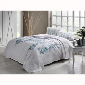 купить Постельное белье с пике TAC Ronna V01 mint Голубой фото