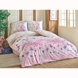 купить Постельное белье Brielle ранфорс Mujde pembe Розовый фото