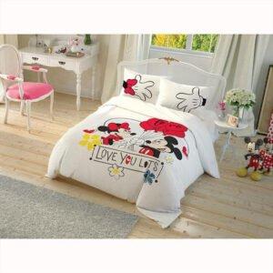 купить Молодежное постельное белье Любовь TAC Disney Minnie Mickey Белый фото