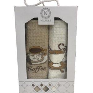 купить Набор кухонных полотенец Nilteks Coffe Coffe V01 (2 шт)  фото