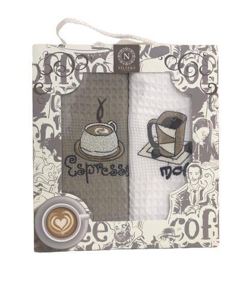 купить Набор кухонных полотенец Nilteks Coffee Series V01 (2 шт)  фото