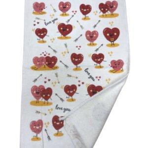 купить Кухонное полотенце Melih Сердца Красный фото