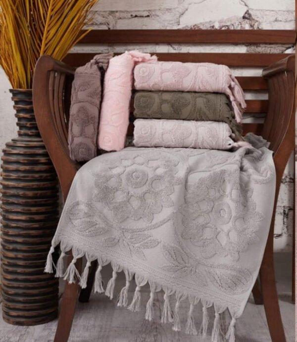 купить Набор махровых полотенец Sikel жаккард Burberyy (6 шт)  фото