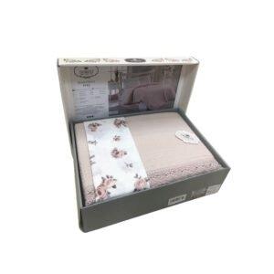 купить Постельное белье с Пике Do & Co Dantelli pudra Розовый фото