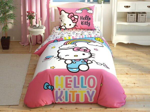 купить Подростковое постельное белье TAC Disney Hello Kitty Rainbow Розовый фото