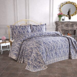 купить Покрывало Tropik home Bamboo Navy Blue 1228-7 Синий фото
