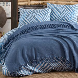 купить Постельное белье с Пике Diva Dreams 08 Синий фото