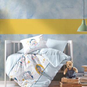 купить Постельное белье Cotton Box для новорожденных Bear Голубой фото