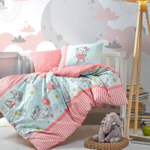 купить Постельное белье Cotton Box для новорожденных Elephant Pudra Красный фото