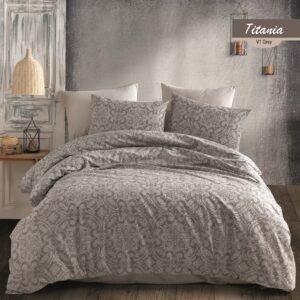 купить Постельное белье Majoli Titania v2 Grey Серый фото