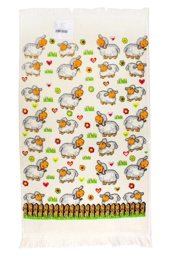 купить Кухонное полотенце Веселые ягнята Зеленый фото 2