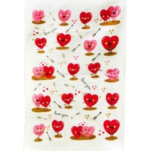 купить Кухонное полотенце Любовь розовый Розовый фото 2