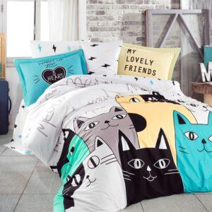 купить Постельное белье HOBBY Poplin Love Cats жовтий  фото