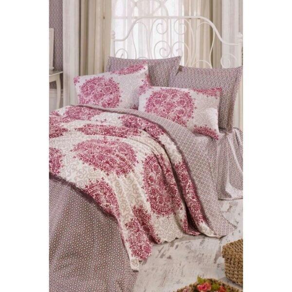 купить Покрывало пике Eponj Home - Palvin beyaz Розовый фото
