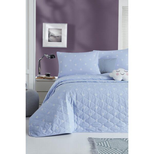 купить Покрывало стеганое с наволочками Enlora Home - Arti Mavi Голубой фото