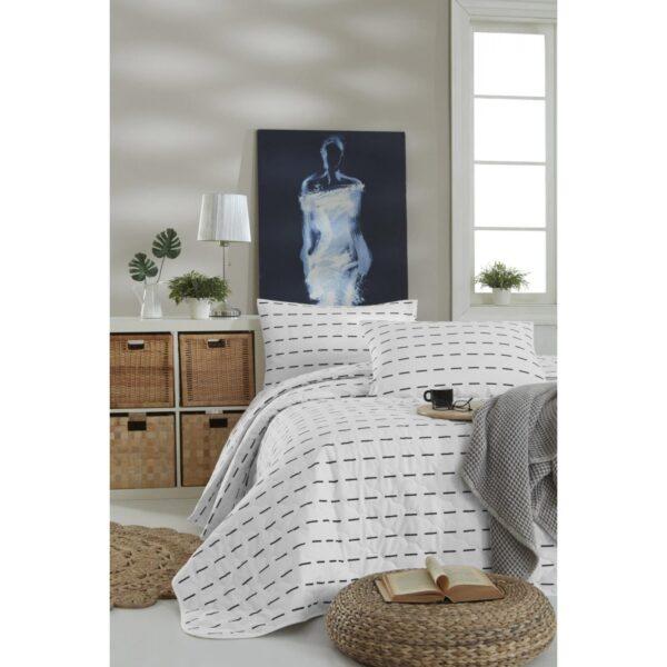 купить Покрывало стеганое с наволочками Enlora Home - Cubuk Beyaz Белый фото