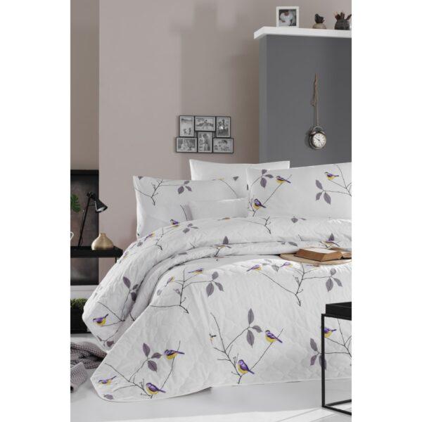 купить Покрывало стеганое с наволочками Enlora Home - Pavlina Beyaz Белый фото