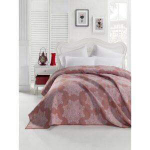 купить Покрывало жаккардовое Eponj Home - Kristal kiremit Розовый фото