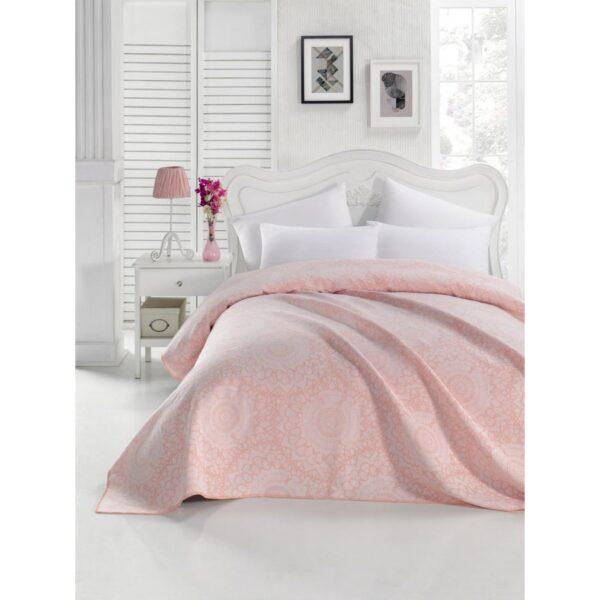 купить Покрывало жаккардовое Eponj Home - Mandala pudra Розовый фото