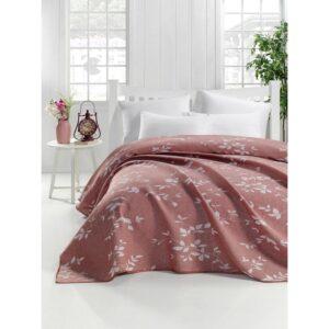 купить Покрывало жаккардовое Eponj Home - Yonca kiremit Розовый фото