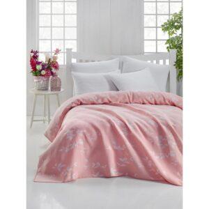 купить Покрывало жаккардовое Eponj Home - Yonca pudra Розовый фото