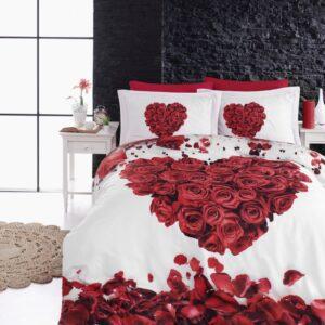 купить Постельное белье First Choice vip сатин 3d 200х220 valentine Красный фото