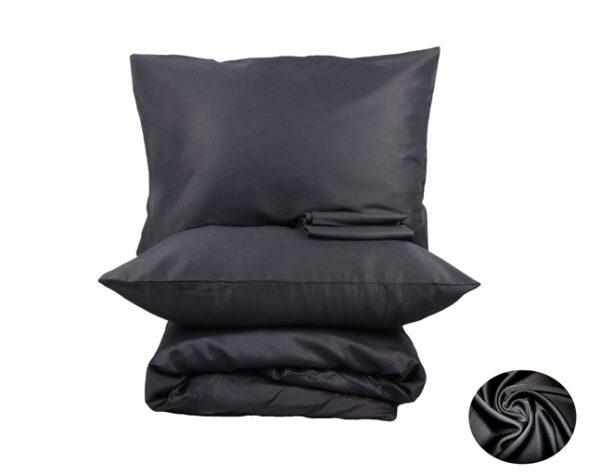 купить Простынь на резинке LightHouse сатин Черный Черный фото